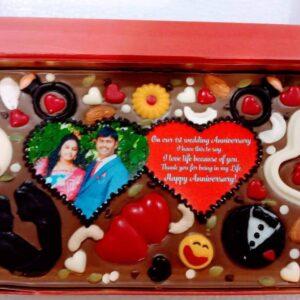 1 Kg Customized Chocolate Box